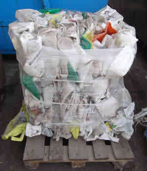 Farm Pesticide comtainers ready for recycling