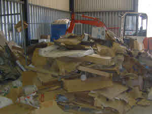 Cardboard at the Public and trade Waste Centre