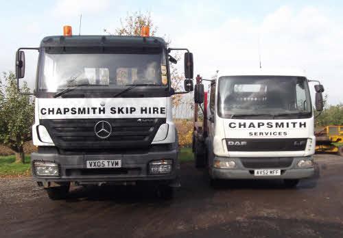 18 ton lorry stood next to our smaller lorries
